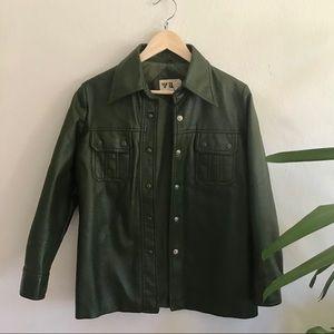 Vintage Green Vinyl Jacket